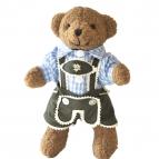 Bayerische Teddy Buam blaues Hemd 22cm