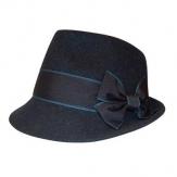 Trachtenhut Madame mit Schleife blau